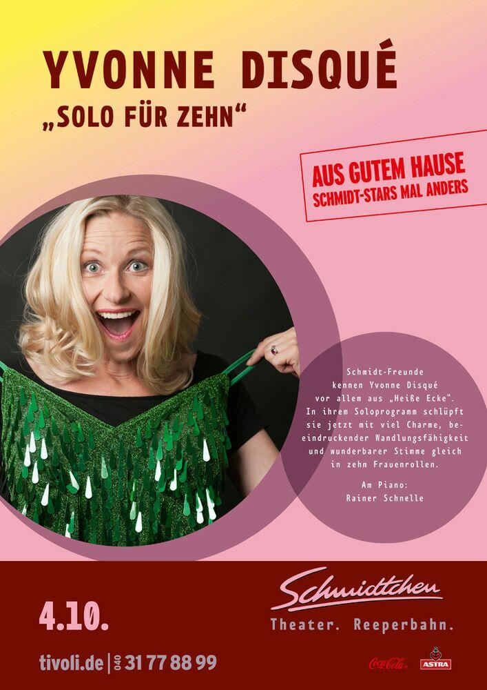 """4.10.2015: Yvonne Disqué live im """"Schmidtchen"""""""